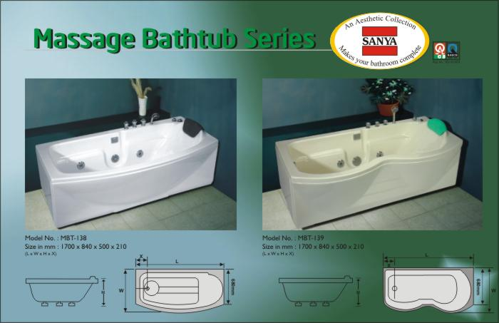 Massage Bathtubs-SANYA- Manufacturer in India for Acrylic Bathtubs ...